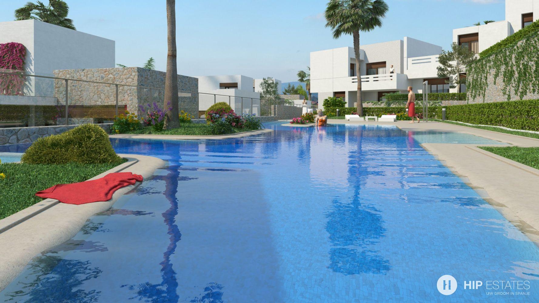 Geschakelde villa 39 s of appartementen op golfdomein in orihuela costa alicante spanje hip estates - Stad geschakelde ...