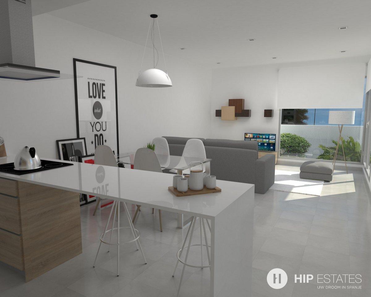 Nieuwe geschakelde villa 39 s regio rojales costa blanca - Mesa salon cristal ...